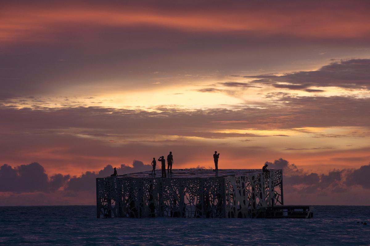 """Coralarium"" by Jason deCaires Taylor at the Fairmont Maldives"