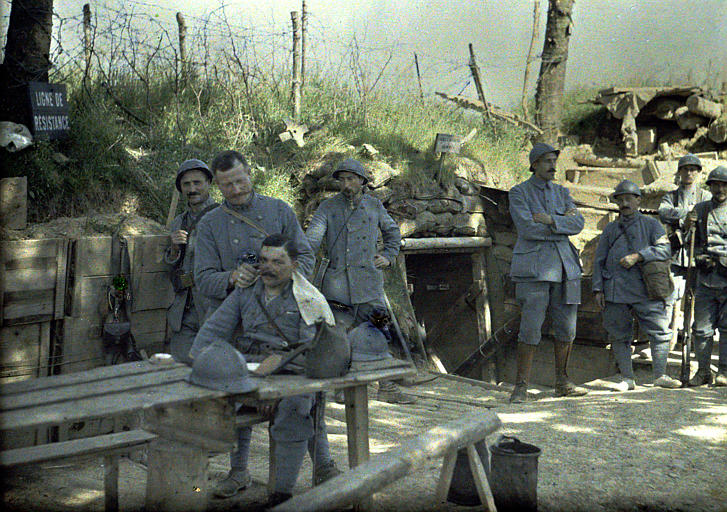 Color Photo of WWI Soldiers