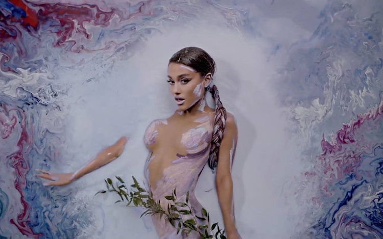 Alexa Meade Body Painting Art on Ariana Grande