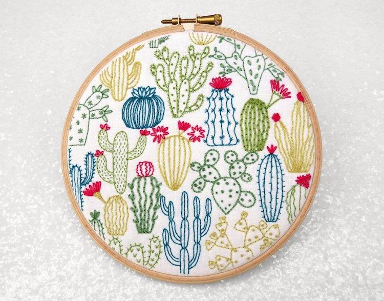 Kit Broderie Cactus