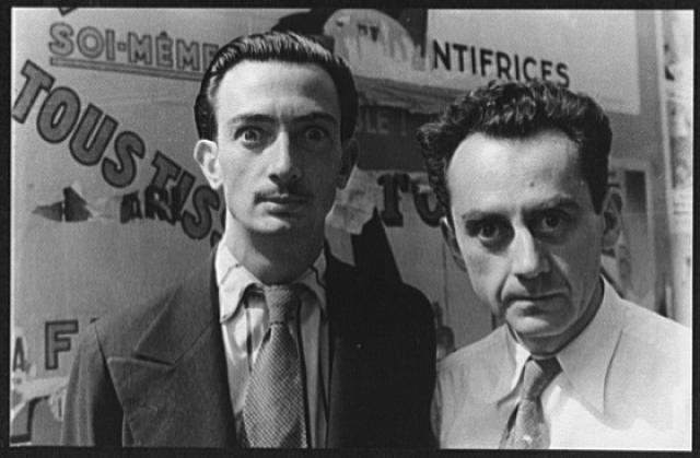 Retrato de Dali y Man Ray