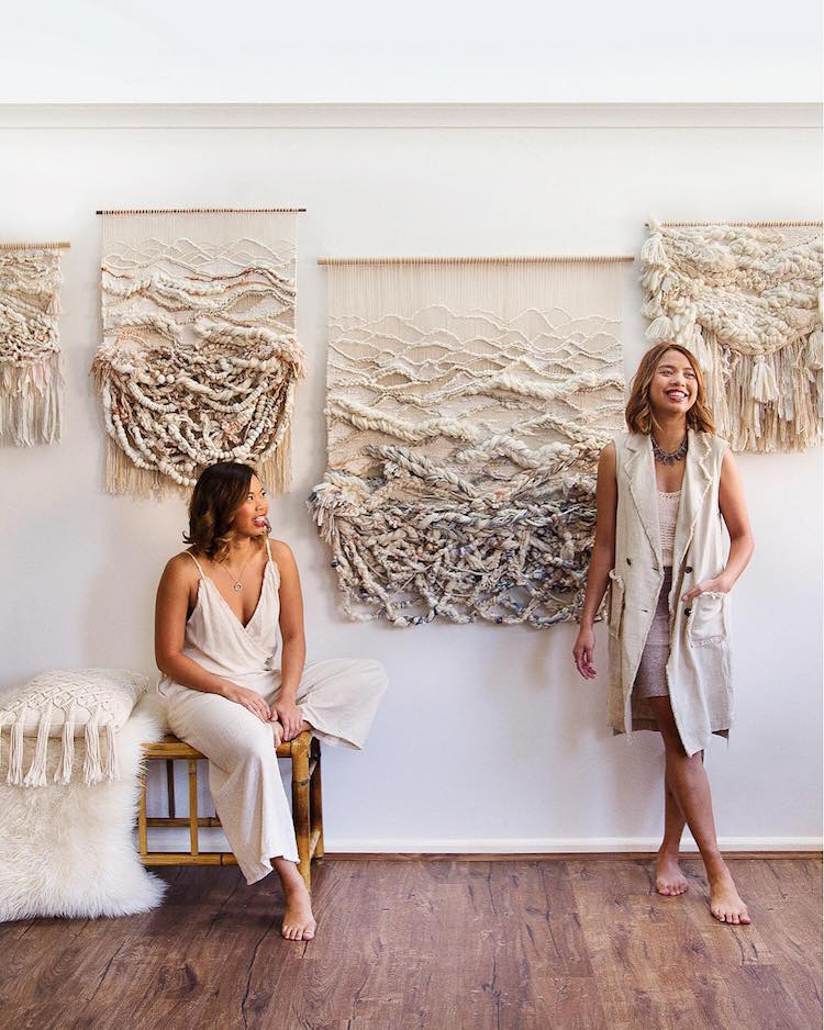 Sisters Craft Fiber Art Wall Hangings Inspired by the Australian