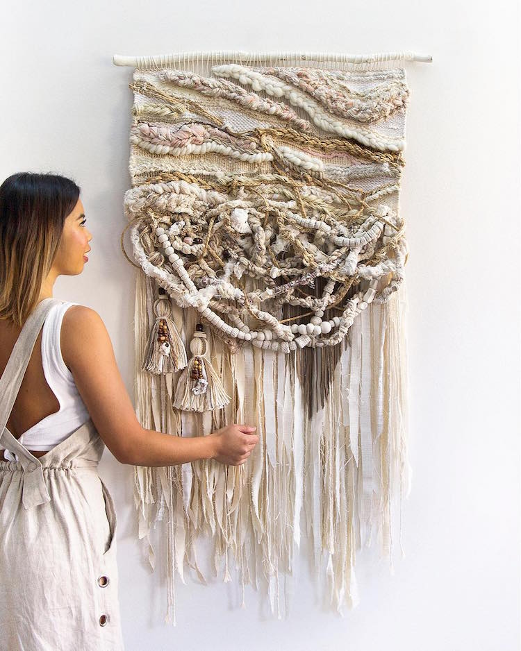 sisters craft fiber art wall hangings inspired by the australian landscape. Black Bedroom Furniture Sets. Home Design Ideas