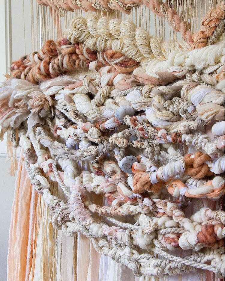 Fiber Art Woven Wall Hangings by Crossing Threads