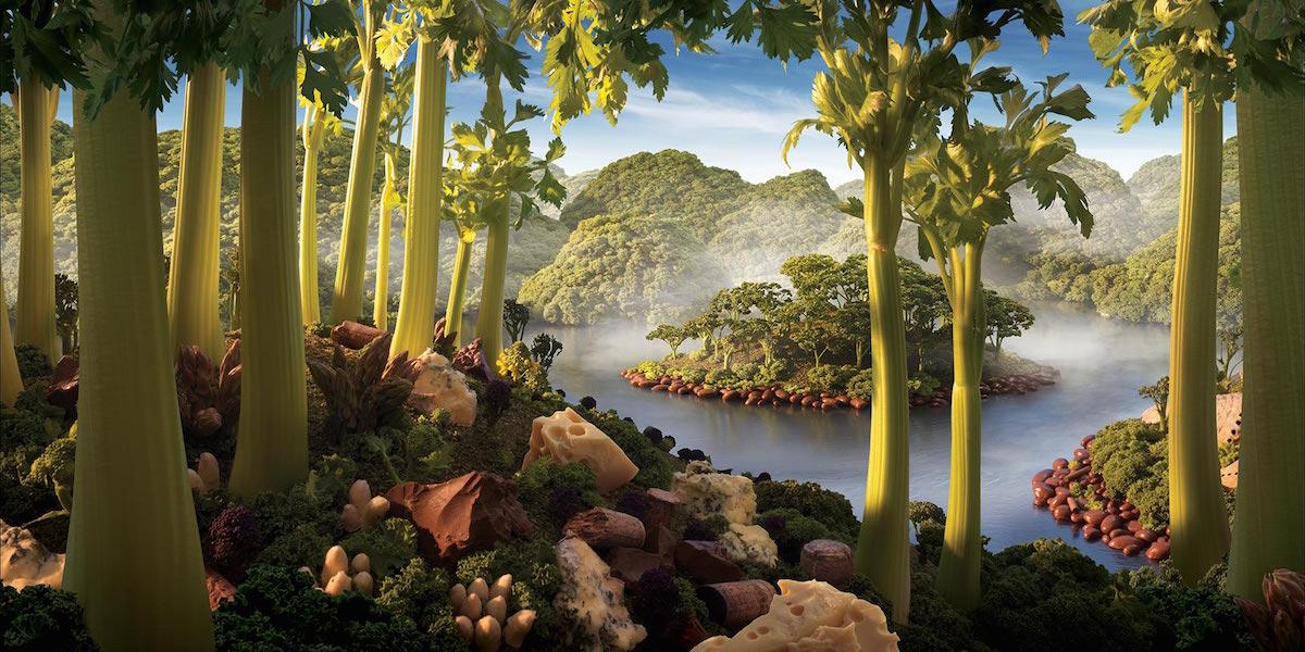Food Art Foodscapes by Carl Warner