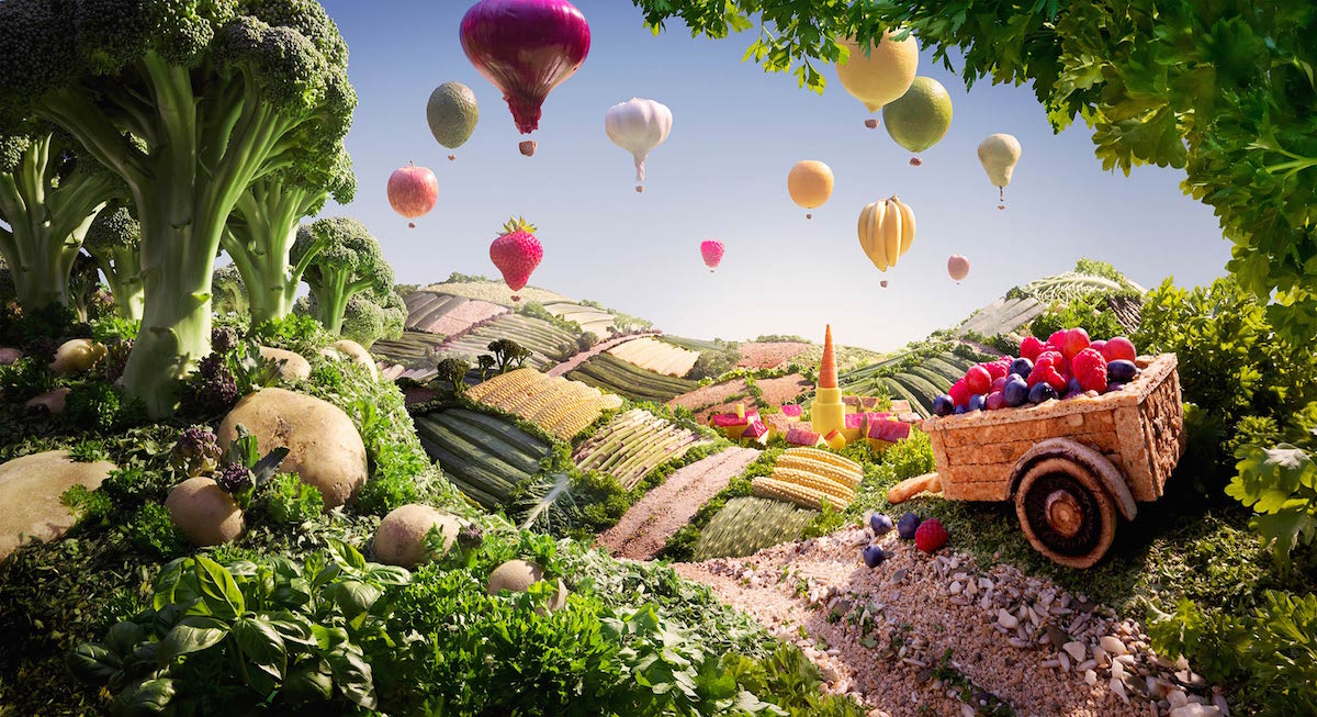 Food Art Foodscapes by Carl Warner