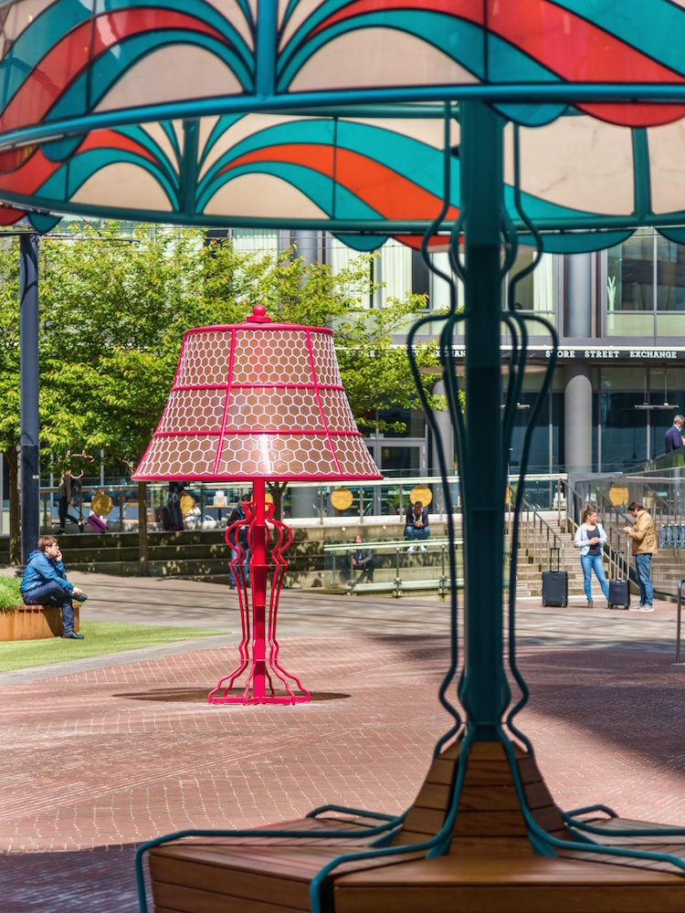 Giant Lamps Public Art by Acrylicize