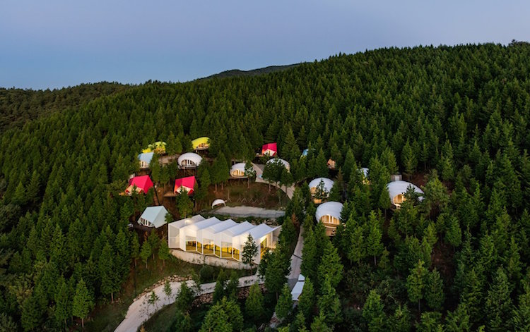 Camping Pods Provide Glamping Accommodation in South Korean