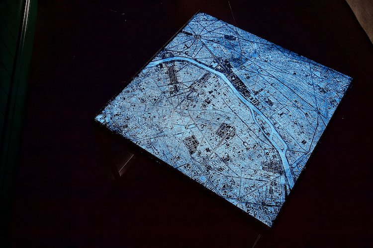 Resin And Wood City Map Coffee Tables That Glow In The Dark