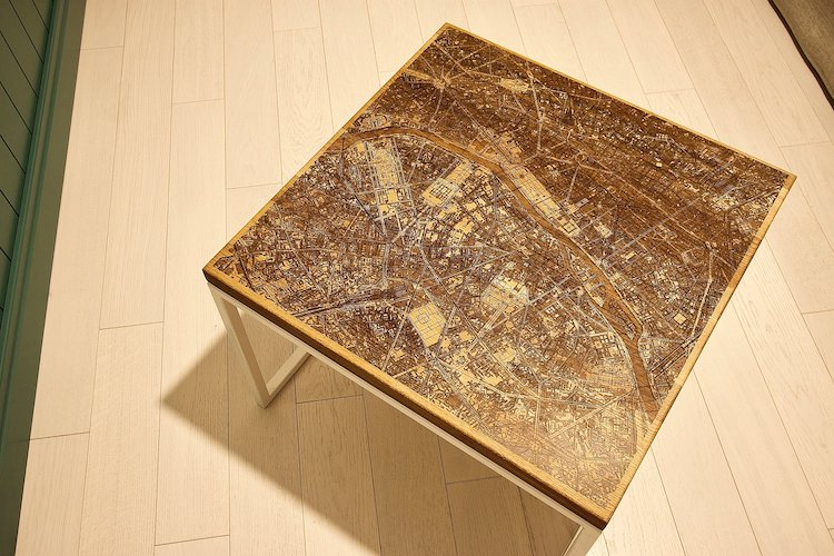 City Map Coffee Table