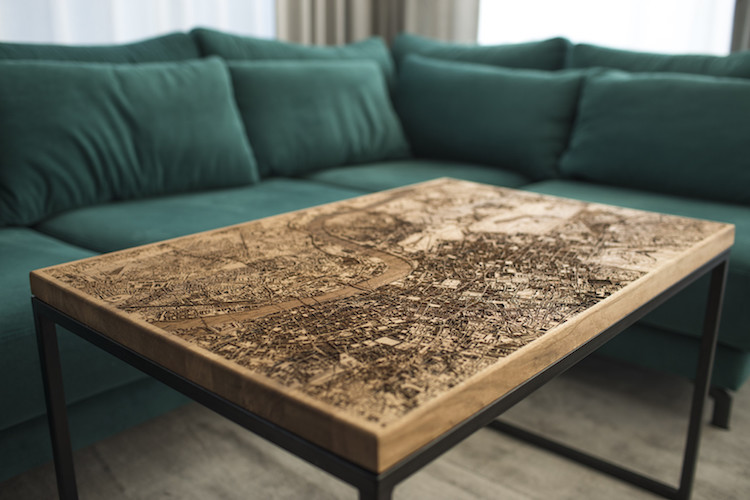 Woo Design - City Map Resin Coffee Table
