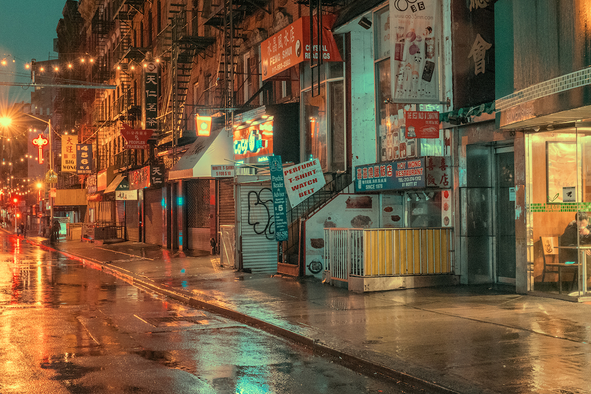 Chinatown at Night by Ludwig Favre