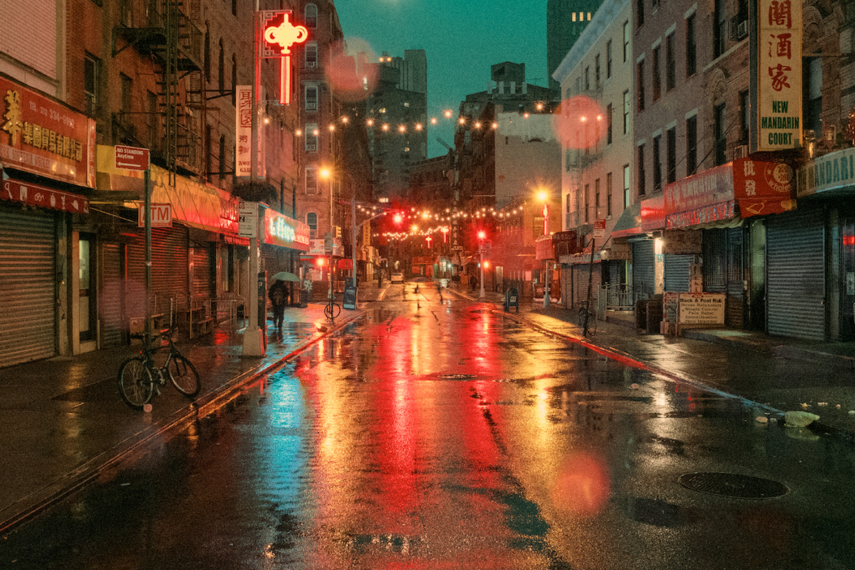 Chinatown in New York by Ludwig Favre