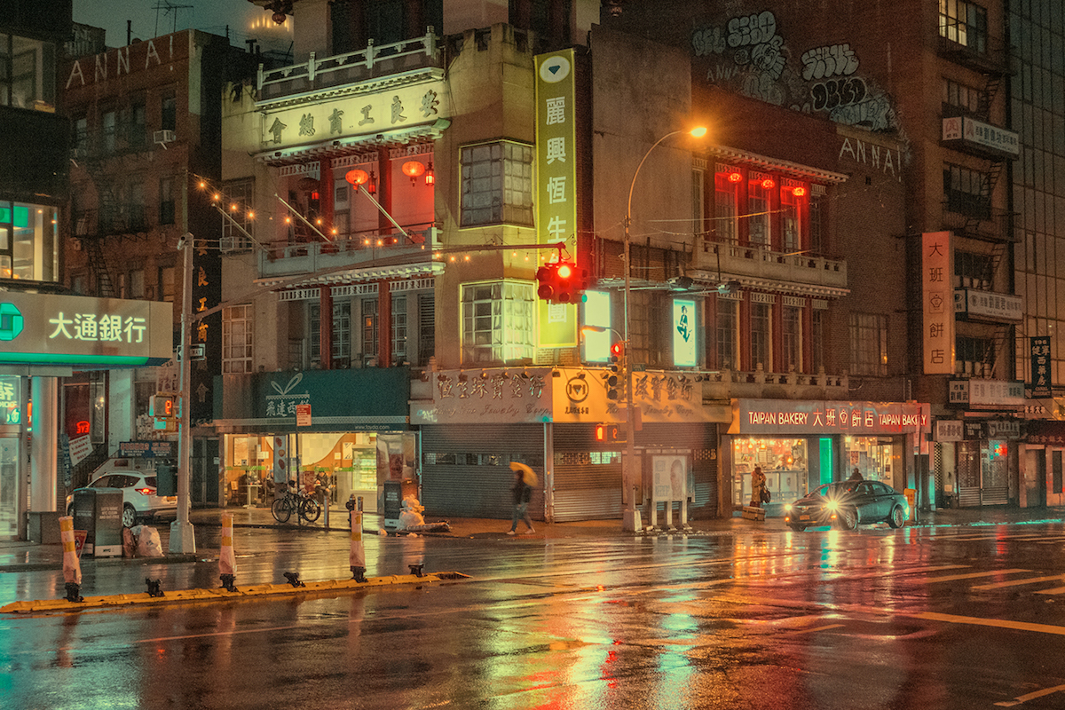 Night Photography in Chinatown