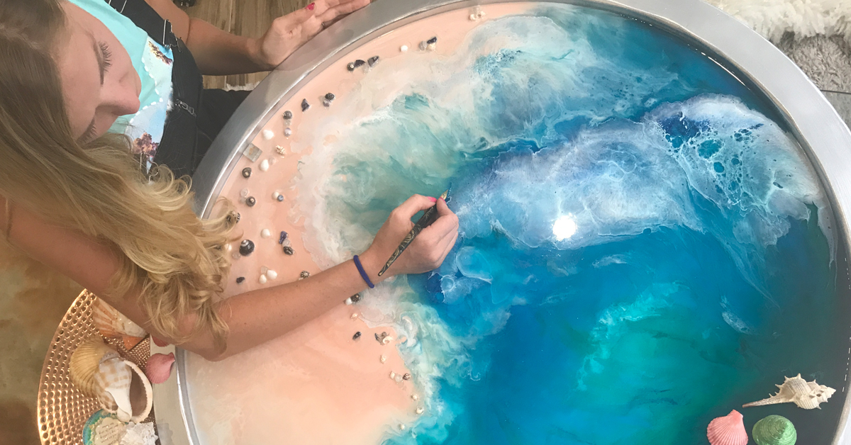 Epoxy Resin Art Celebrates the Beauty of the Untouched Ocean
