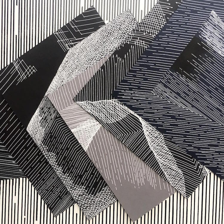 Math Art Line Drawing by Katy Ann Gilmore