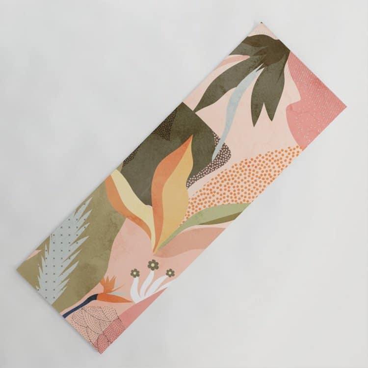 Tropical Print Yoga Mat