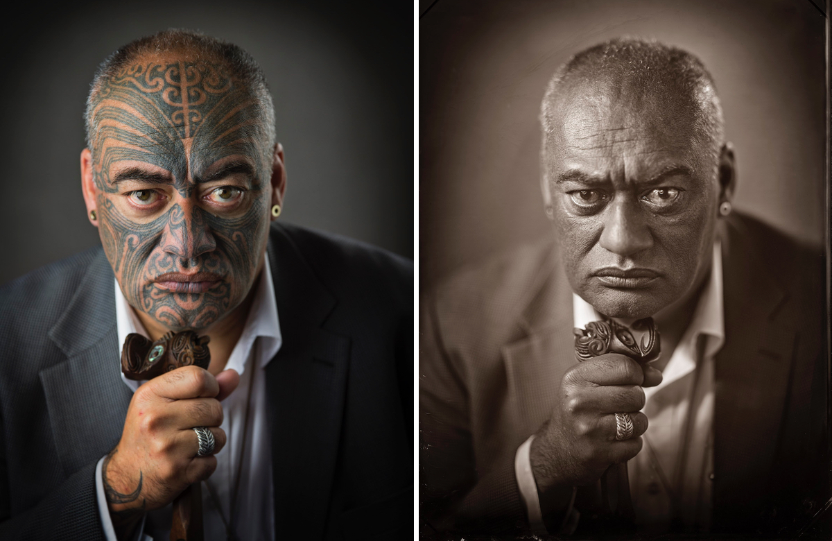 Wet Plate Photography of Māori by Michael Bradley