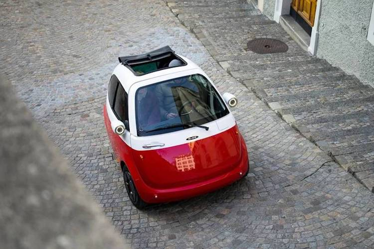 Compact Electric Car Can Be Charged At Any Conventional Power Outlet