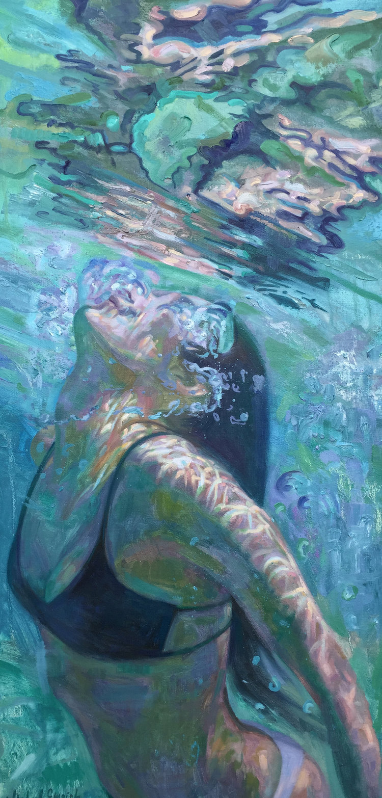 Oil Painting Underwater Paintings by Isabel Emrich