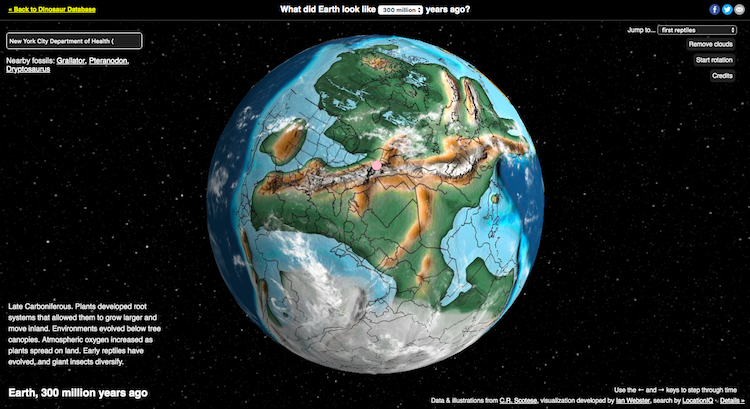 Interactive map explores earth from 700 million years ago to today interactive map of earth over time gumiabroncs Image collections