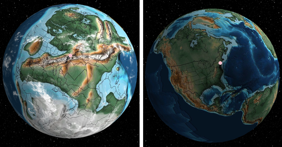 Interactive Map Explores Earth from 700 Million Years Ago to Today