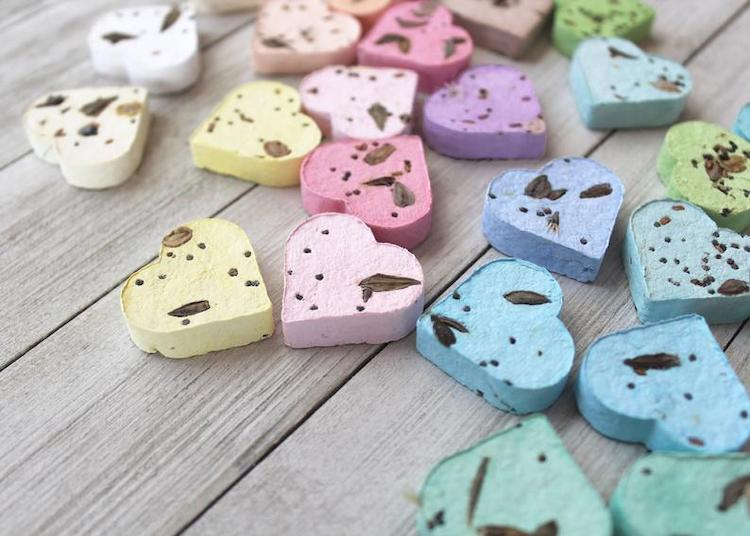Biodegradable Colorful Heart Seed Bombs