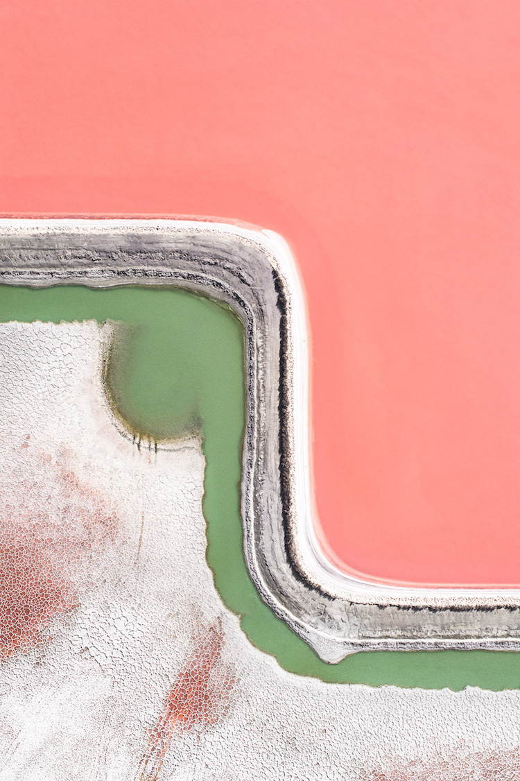 Aerial Photo of Salt Quarry by Tom Hegen