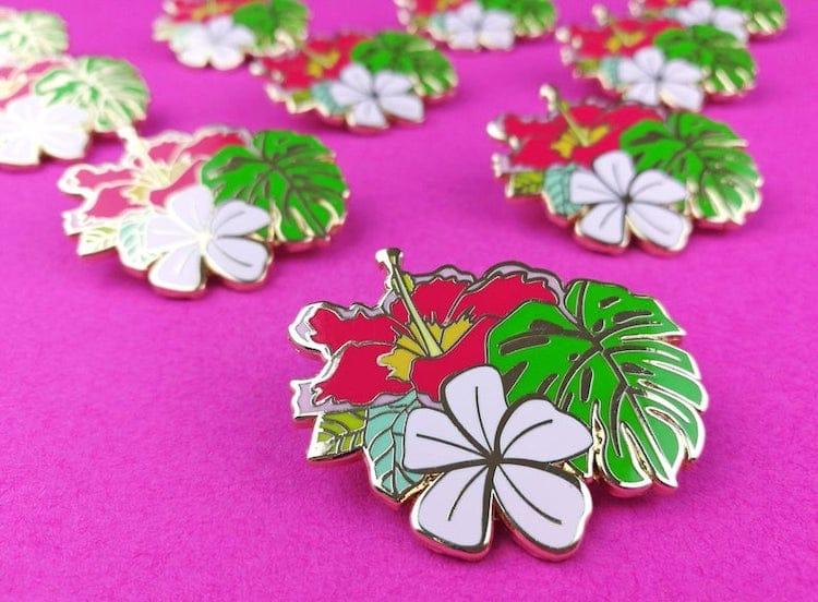 Tropical Flower Enamel Pin