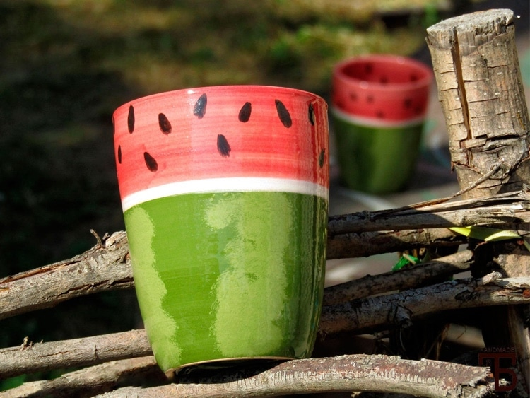 Ceramic Watermelon Cup