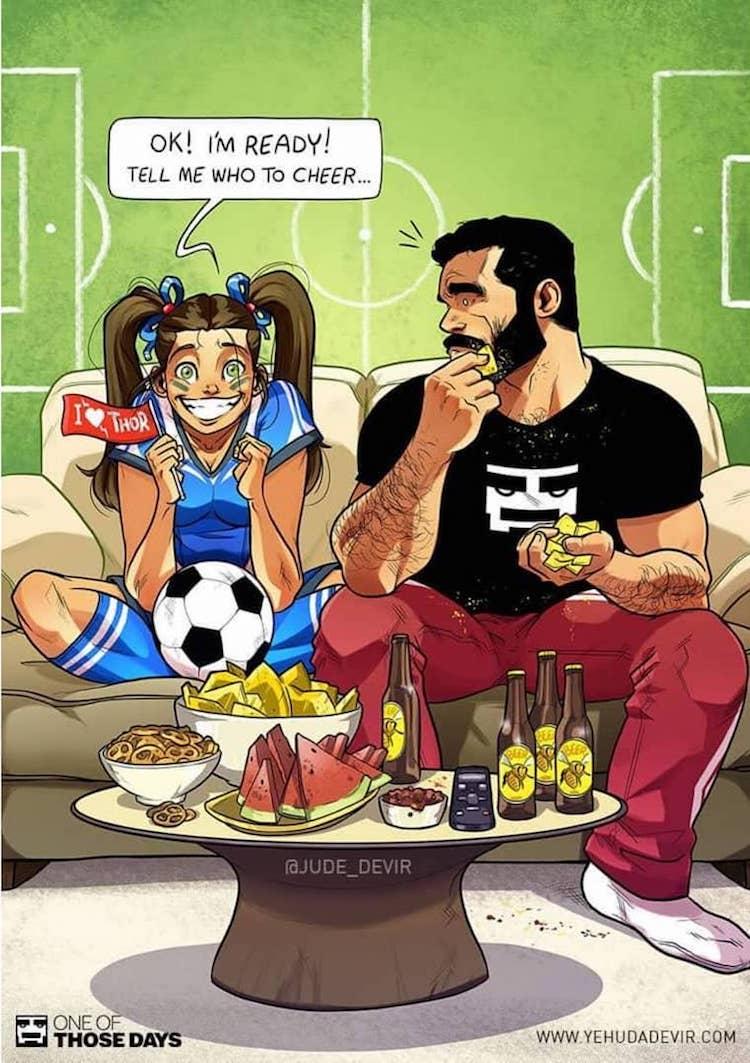 Comics de pareja por Yehuda Devir