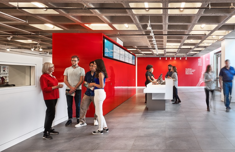The Box Office at the Chicago Architecture Center; Photo credit: Courtesy Chicago Architecture Center
