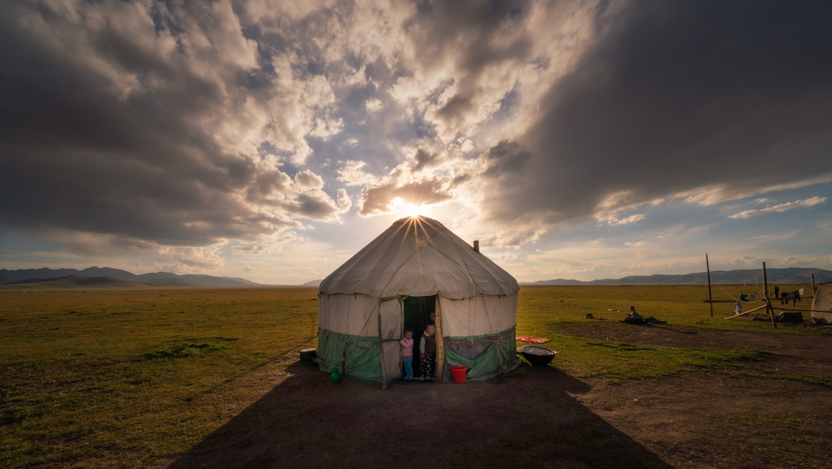 Yurt in Kyrgyzstan by Albert Dros