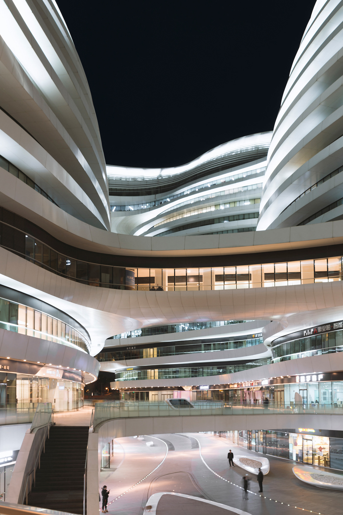 Zaha Hadid's Galaxy SOHO, Photo by Andres Gallardo