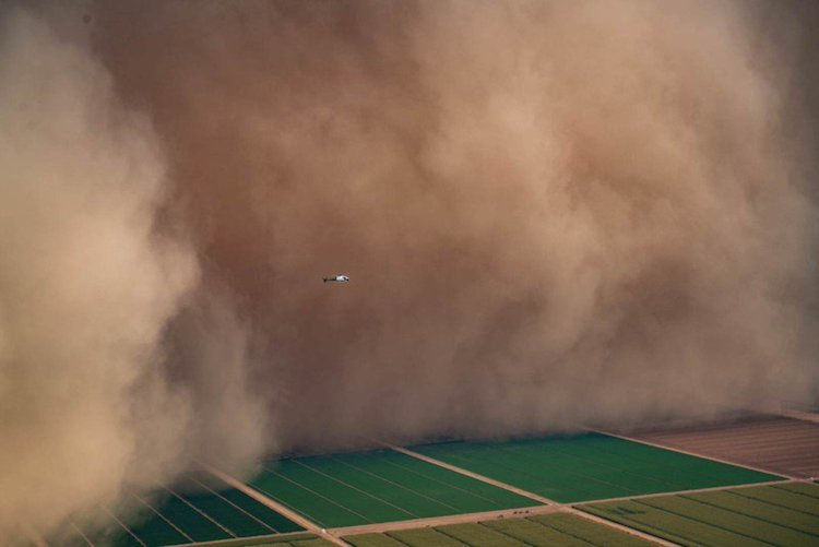 Haboob in Arizona from Helicopter