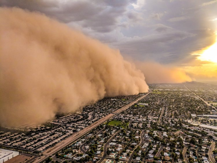 magnificent photos of arizona dust storm taken from news helicopter