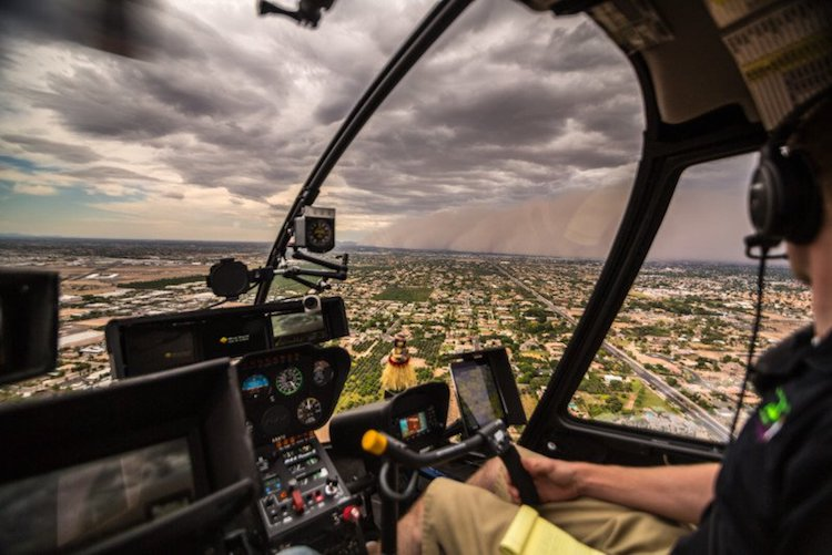 Haboob in Arizona from News Helicopter