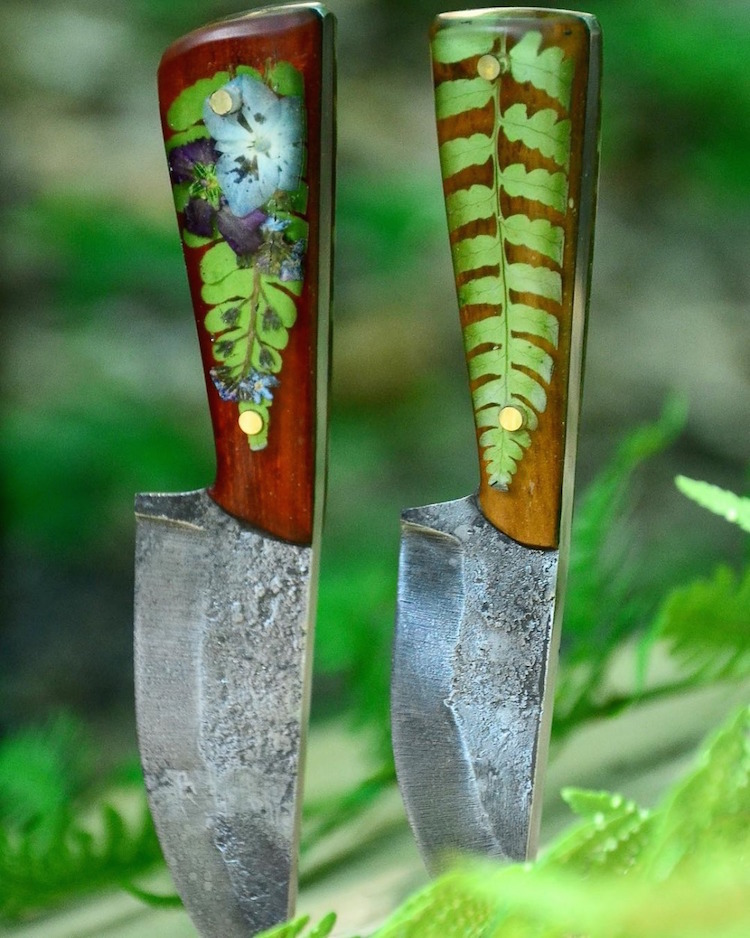 Botanical Hand-Forged Knives by Pocono Mountain Forge