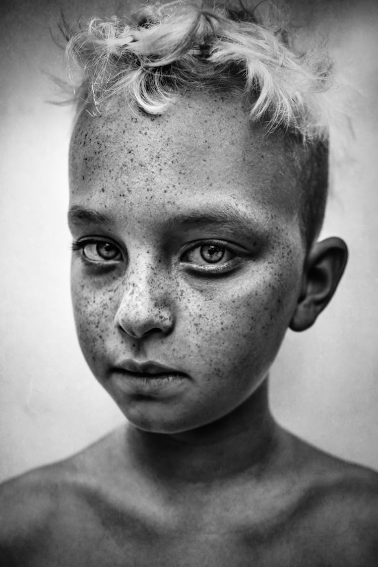 First half winners of the 2018 bw child photo competition