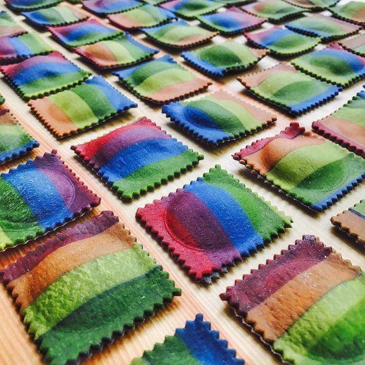 Colorful Rainbow Pasta by Linda Nicholson