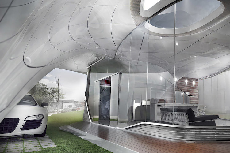 Contemporary 3D Printed Home by WATG and Branch Technology