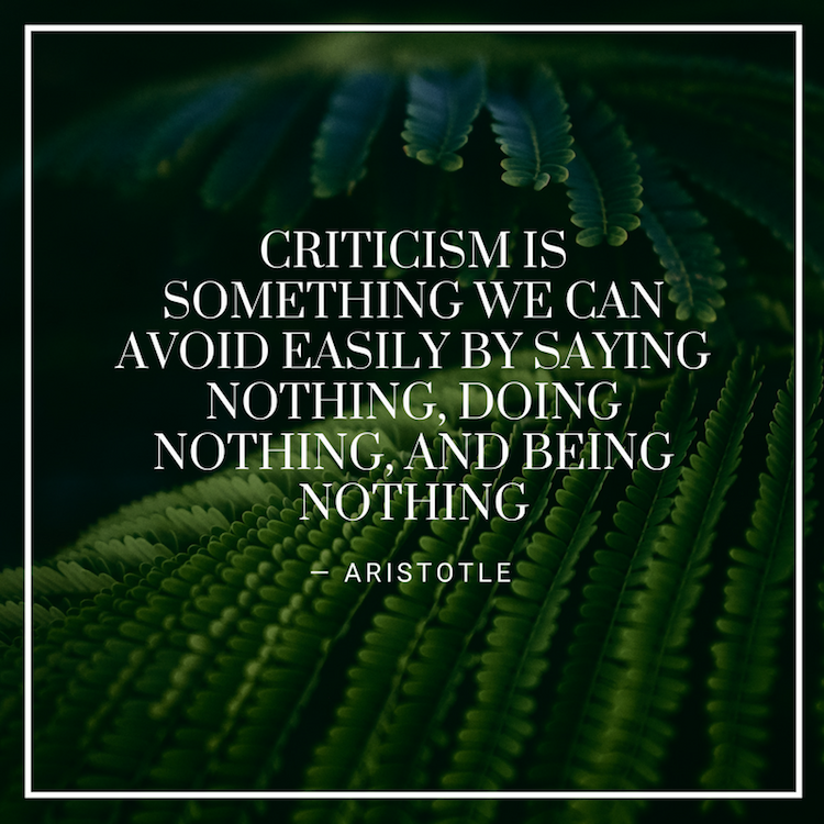 How to Accept Criticism as an Artist