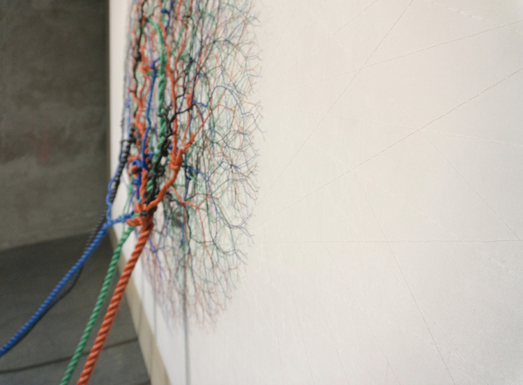 Ciclotramas Rope Art Organic Installation Janaina Mello Landini