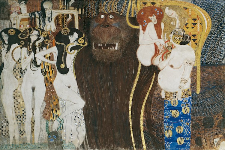 Klimt Golden Phase Beethoven Frieze