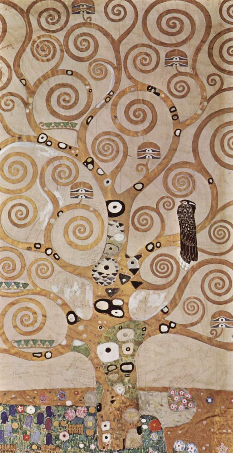 Gold Leaf Painting on Canvas Klimt Tree of Life