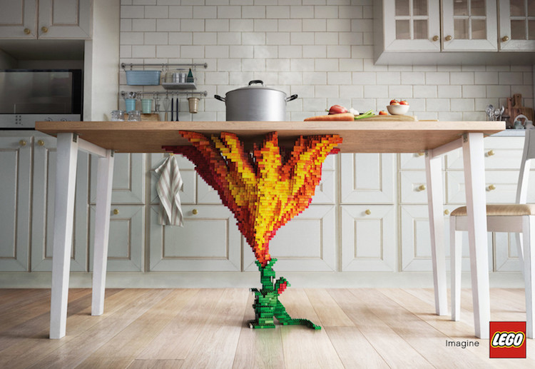 Creative lego ad campaigns bring childlike imagination to life - Table a dessin professionnelle ...