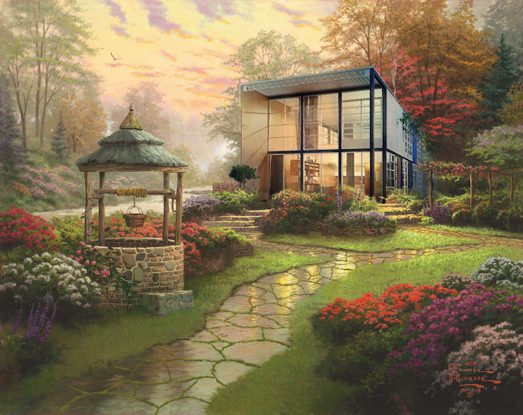 Modern Architecture Thomas Kinkade Painting by @robyniko