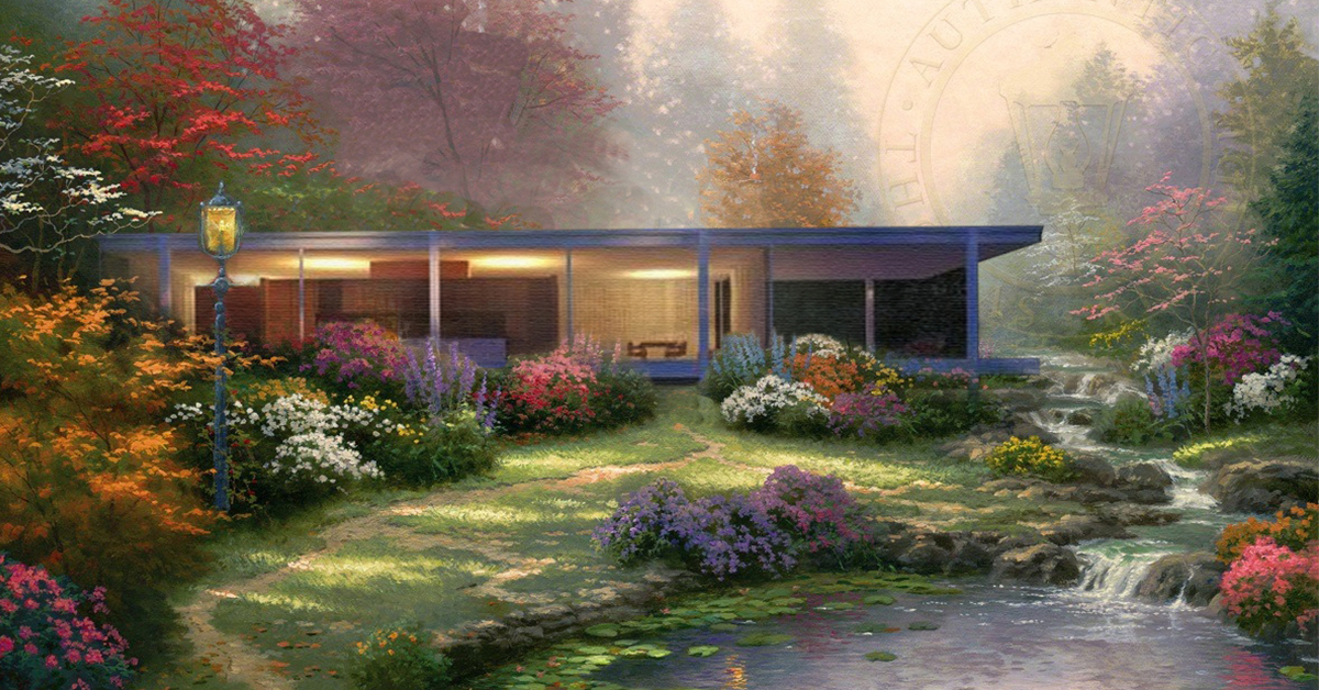 Modern Architecture Inside Worlds of a Thomas Kinkade Painting on Modern House Painting  id=88870