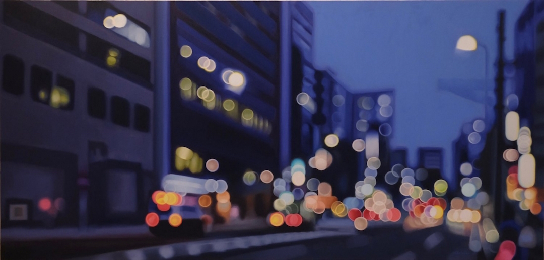 Night Photography Bokeh Oil Paintings by Philip Barlow