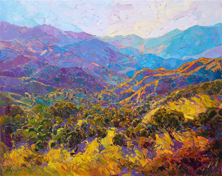de1e5ef5cbf California-based artist Erin Hanson creates colorful landscape paintings  that pay homage to the American great outdoors.